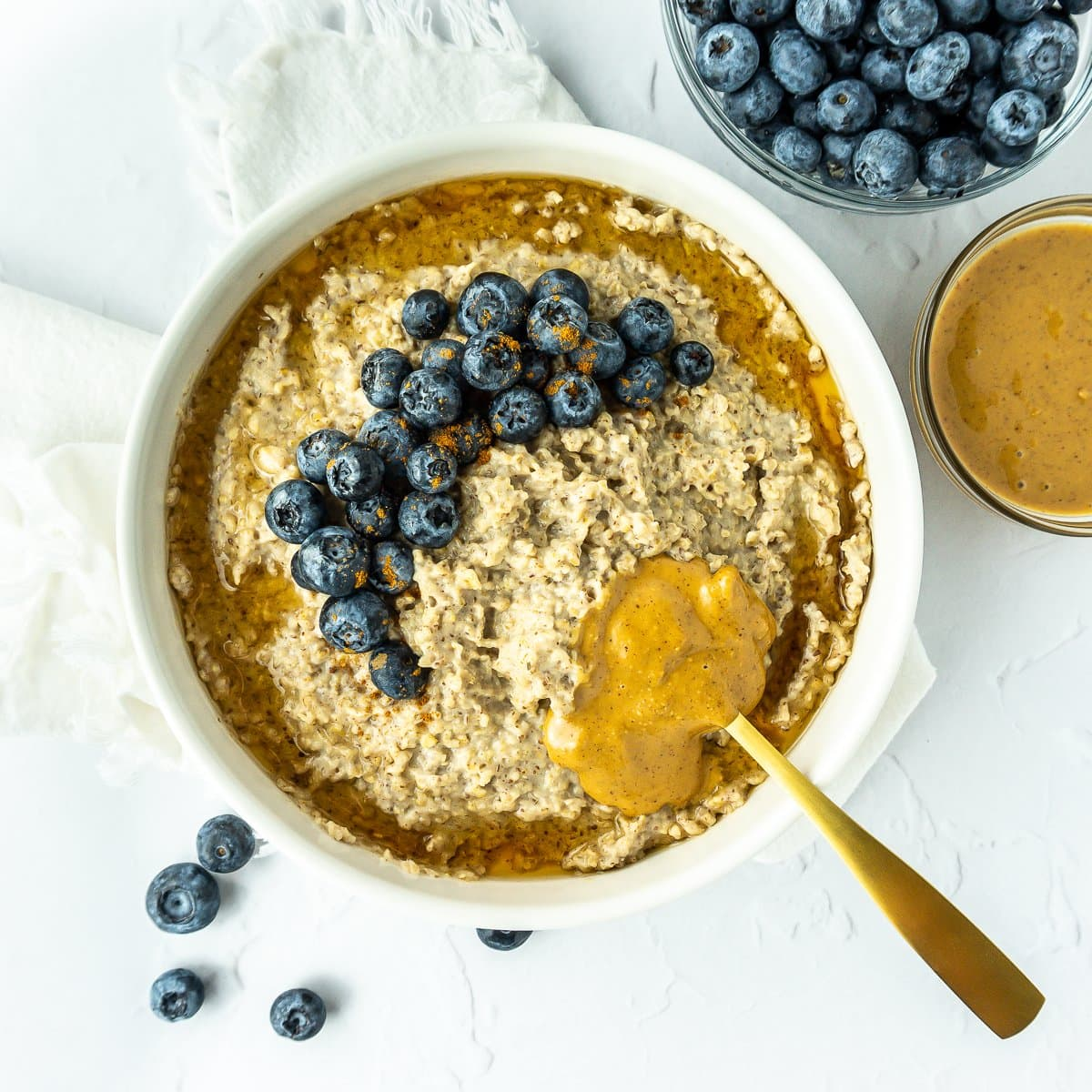 Bowl of PB Blueberry Oatmeal